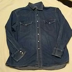 Structure Blue Jean Button Down Shirt